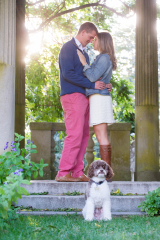 Beach Engagement Portraits_Waterford CT Engagement Portraits_Harkness Park CT Engagement Portraits_Harkness Park CT Engagement Portraits_CT Wedding Photographer_Engagement Photo Session with Dogs0001