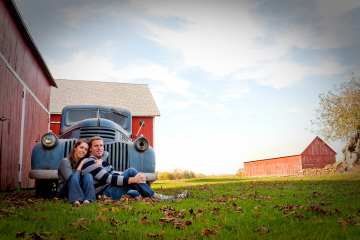 Outside Engagement Photo Session_Barn Engagement Photographs_Outside Engagement Portraits_Summer Engagement Portraits_CT Wedding Photographer0001
